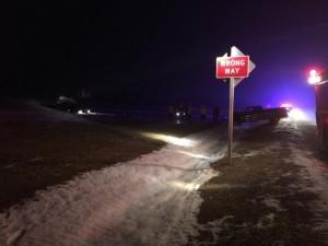Car crash scene near exit 106, Town of Eldorado. Photo reprinted with permission of Carlos Munoz Jr.